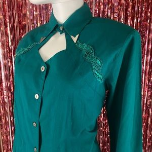 VTG Western Cowgirl Country Blouse